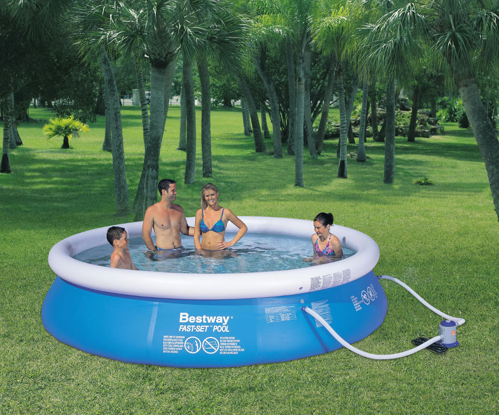 quick up pool ringpool set 3 05 x 0 76m inkl filteranlage f r 59 99. Black Bedroom Furniture Sets. Home Design Ideas